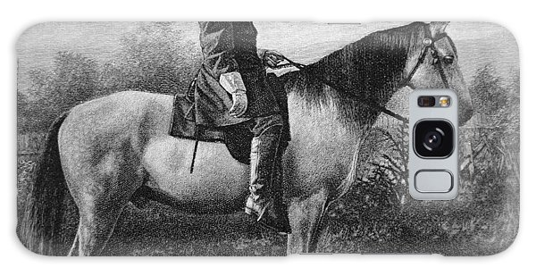 Portraiture Galaxy Case - Robert E Lee On His Horse Traveler by American School