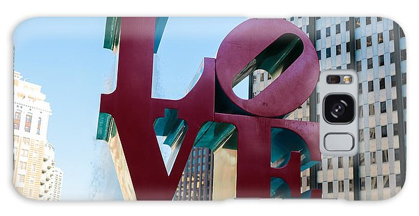 Robert Indiana Love Sculpture Galaxy Case