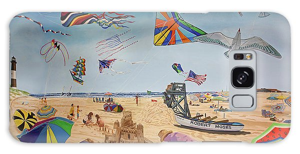 Robert Moses Beach Galaxy Case by Bonnie Siracusa