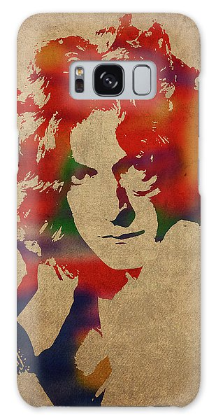 Robert Plant Led Zeppelin Watercolor Portrait Galaxy Case