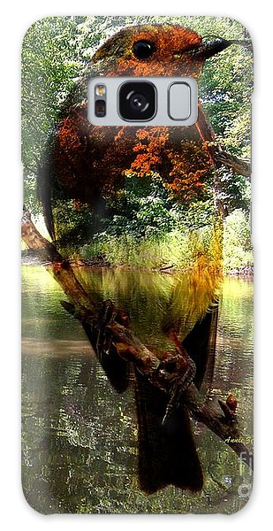 Robin By The River Galaxy Case