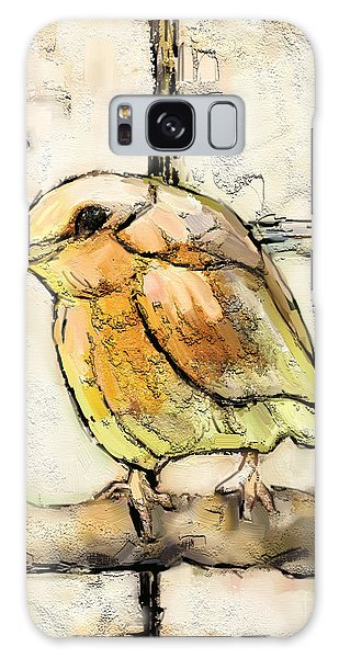 Cottage Galaxy Case - Robin Collage by Carrie Joy Byrnes