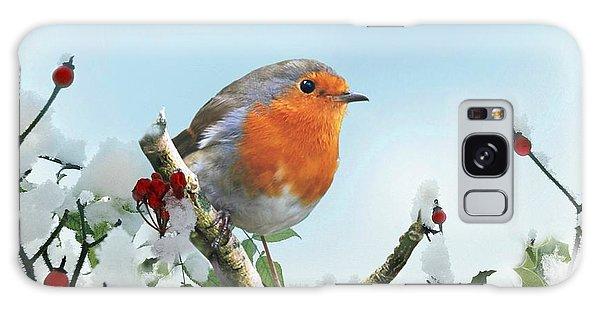 Robin In The Snow Galaxy Case