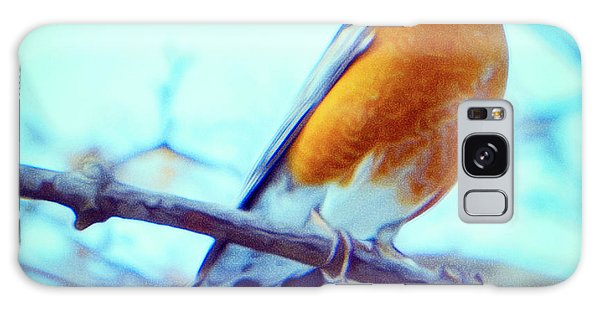 Robin Red Breast In Winter - Impressionism Galaxy Case