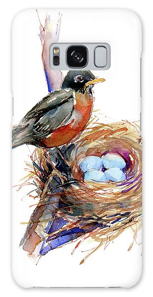 Robin With Nest Galaxy S8 Case
