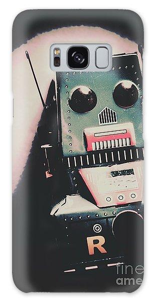 Metal Galaxy Case - Robotic Mech Under Vintage Spotlight by Jorgo Photography - Wall Art Gallery