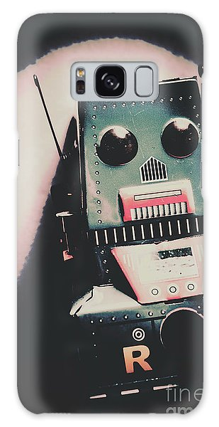 Fighter Galaxy Case - Robotic Mech Under Vintage Spotlight by Jorgo Photography - Wall Art Gallery
