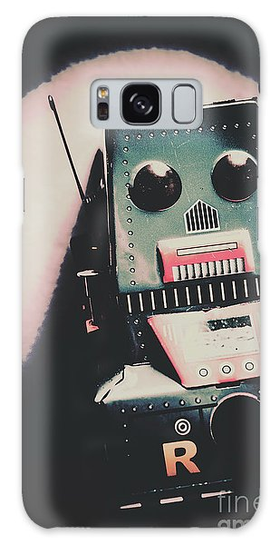 Metal Galaxy Case - Robotic Mech Under Vintage Spotlight by Jorgo Photography - Wall Art Gallery