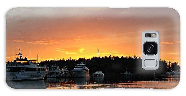 Roche Harbor Sunset Galaxy Case