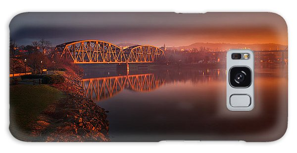 Rochester Train Bridge  Galaxy Case