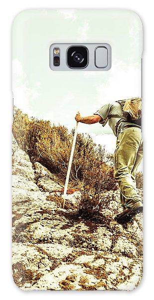 Pass Galaxy Case - Rock Climbing Mountaineer by Jorgo Photography - Wall Art Gallery