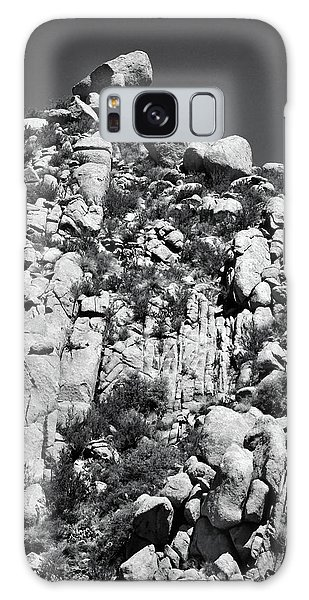 Rock Face Sandia Mountain Galaxy Case