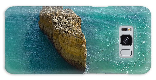 Rock Formation And The Sea In Algarve Galaxy Case