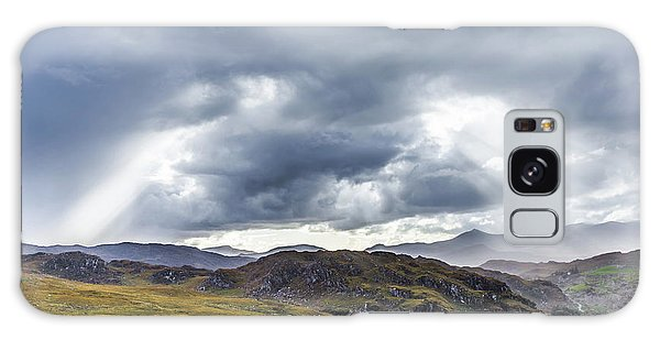 Rock Formation Landscape With Clouds And Sun Rays In Ireland Galaxy Case by Semmick Photo
