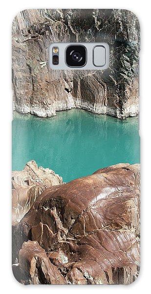 Galaxy Case featuring the photograph Rock Formation Of Zanskar, Ladakh, 2009 by Hitendra SINKAR