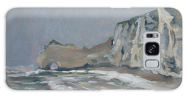 Rock Of Amont Etretat After The Rain Galaxy Case