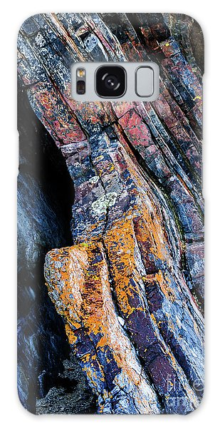 Galaxy Case featuring the photograph Rock Pattern Sc01 by Werner Padarin