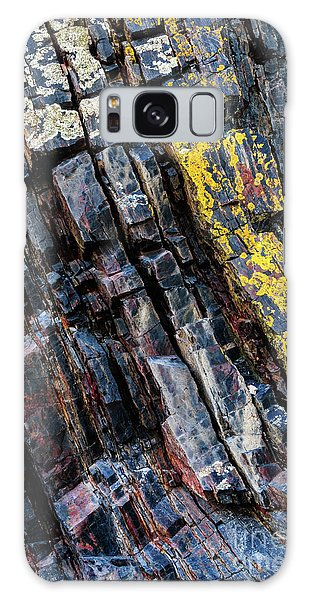 Galaxy Case featuring the photograph Rock Pattern Sc02 by Werner Padarin