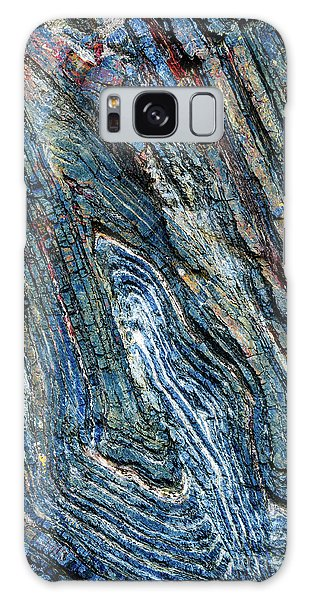 Galaxy Case featuring the photograph Rock Pattern Sc03 by Werner Padarin