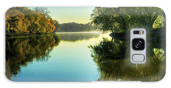 Rock River Autumn Morning Galaxy Case
