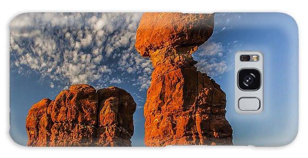 Rock, Sun, Cloud, And Sky Galaxy Case