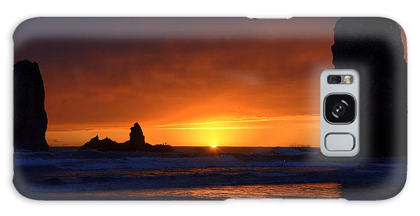 Rock Sunset Galaxy Case by Jerry Cahill