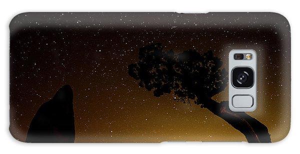 Rock, Tree, Friends Galaxy Case