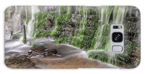 Rock Wall Waterfall Galaxy Case