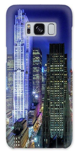 Rockefeller At Night Galaxy Case
