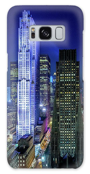 Rockefeller At Night Galaxy Case