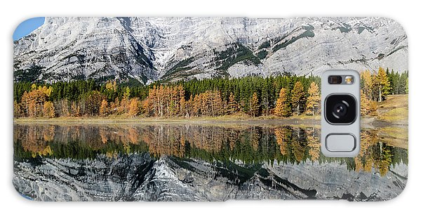 Rockies From Wedge Pond Under Late Fall Colours, Spray Valley Pr Galaxy Case