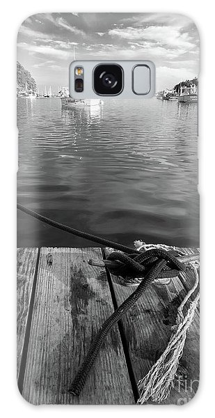Rockport Harbor, Maine #80458-bw Galaxy Case