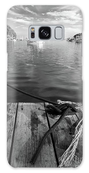 Rockport Harbor, Maine #80458-bw Galaxy Case