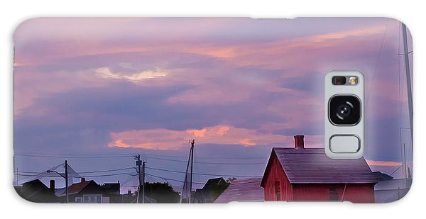 Rockport Sunset Over Motif #1 Galaxy Case by Jeff Folger