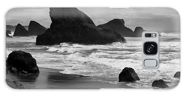 Galaxy Case - Rocks And Beach by Bob Neiman