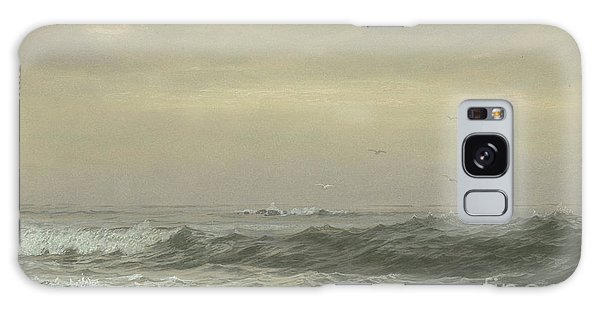 Breaking Dawn Galaxy Case - Rocks And Breaking Waves by William Trost Richards