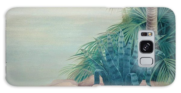 Rocks And Palm Tree Galaxy Case