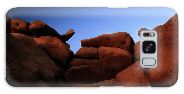 Rocks And Sky At Goblin Valley  Utah Galaxy Case by Gary Warnimont