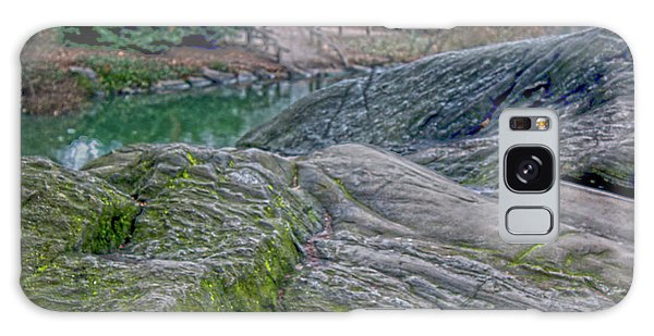 Rocks At Central Park Galaxy Case by Sandy Moulder