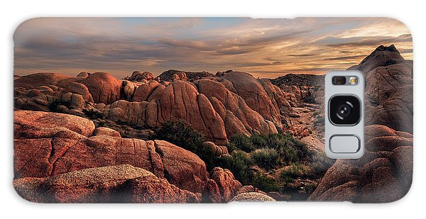 Rocks At Sunrise Galaxy Case