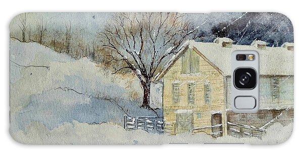 Rockville Farm In Snowstorm Galaxy Case