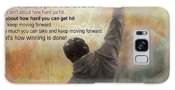 Rocky Balboa Inspirational Quote Galaxy Case