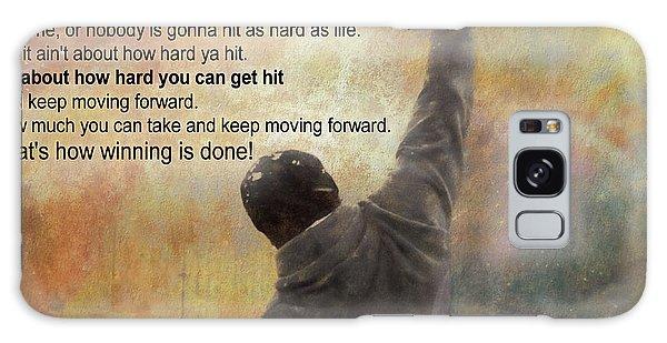 Rocky Balboa Inspirational Quote Galaxy Case