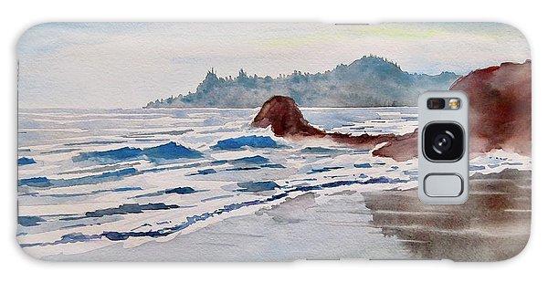 Rocky Beach Galaxy Case by Geni Gorani