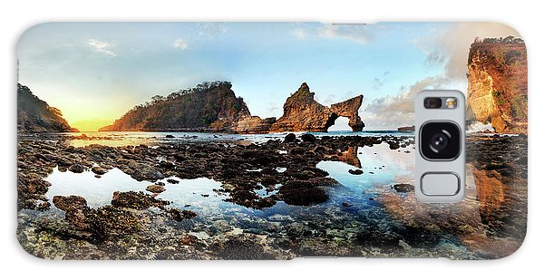 Rocky Beach Sunrise, Bali Galaxy Case