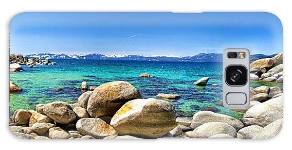 Rocky Cove Sand Harbor Galaxy Case by Jason Abando