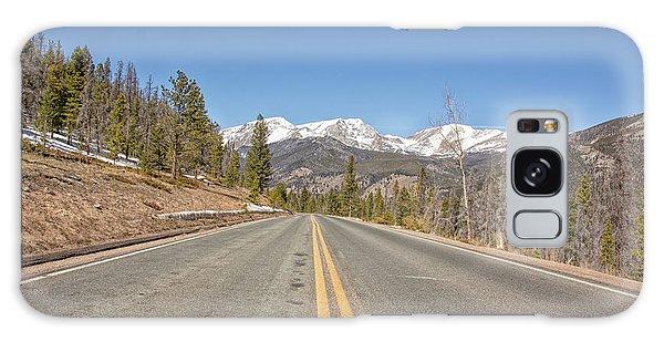 Rocky Mountain Road Heading Towards Estes Park, Co Galaxy Case