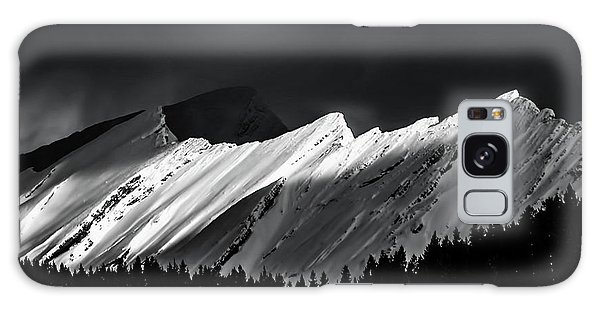 Rocky Mountains In Moonlight Galaxy Case