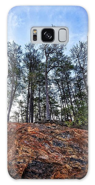 Galaxy Case featuring the photograph Rocky Pines by Alan Raasch