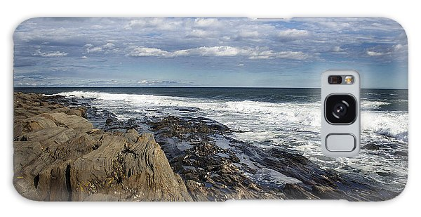 Rocky Shore Line Two Lights Maine  Galaxy Case